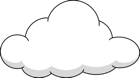 Cloud clipart fluffy cloud - Pencil and in color cloud