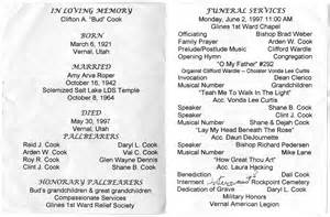 Sample LDS Funeral Program