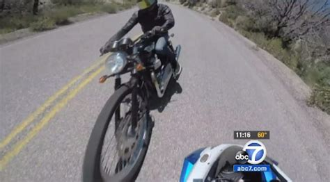 Scary Socal Motorcycle Crash Captured On Gopro Video