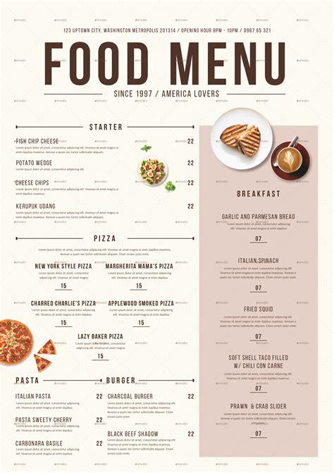 cuisine menu modern food menu by tokosatsu graphicriver