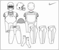 Blank Nike Football Uniform Template