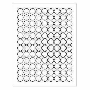 6 sheets 378 3 4 blank round circle white stickers for With circle sticker sheets