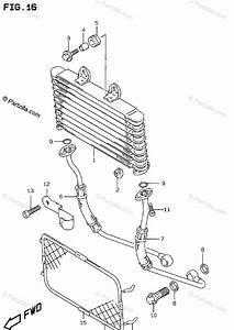 Suzuki Motorcycle 1997 Oem Parts Diagram For Oil Cooler