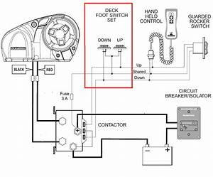 anchor windlass foot switch hand held control and relay With click wiring diagram