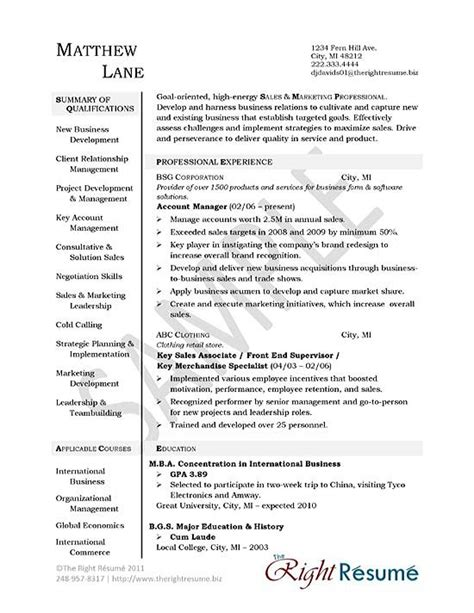 account manager resume berathen
