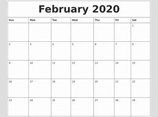 October 2019 Print Out Calendar