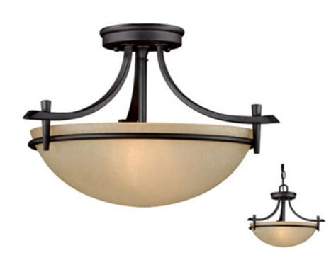 kitchen light fixtures at menards somerville 2 light 15 quot rubbed bronze semi flush