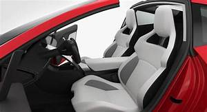 Tesla Roadster 2020 Detailed Interior 3D Model