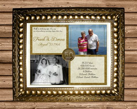 50th Anniversary Gift Gold 50th Wedding Anniversary