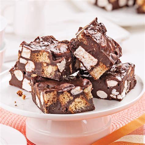 carr 233 s sans cuisson au chocolat et guimauves desserts