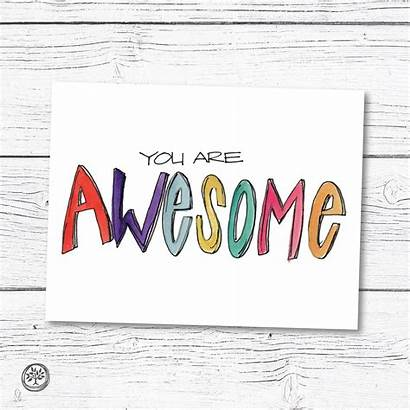 Awesome Note Cards Card