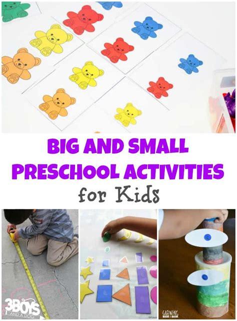 big  small preschool activities  kids  boys