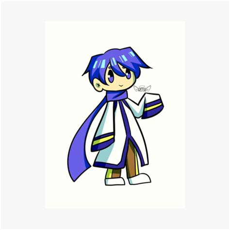 kaito sticker print by quimmy redbubble