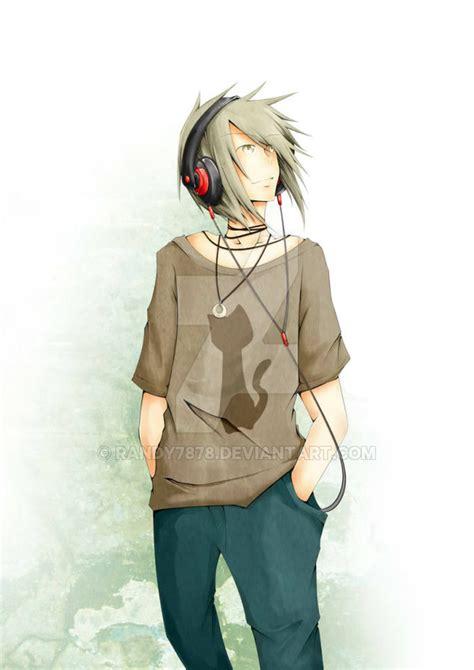anime guy anime guy with headphones by randy7878 on deviantart