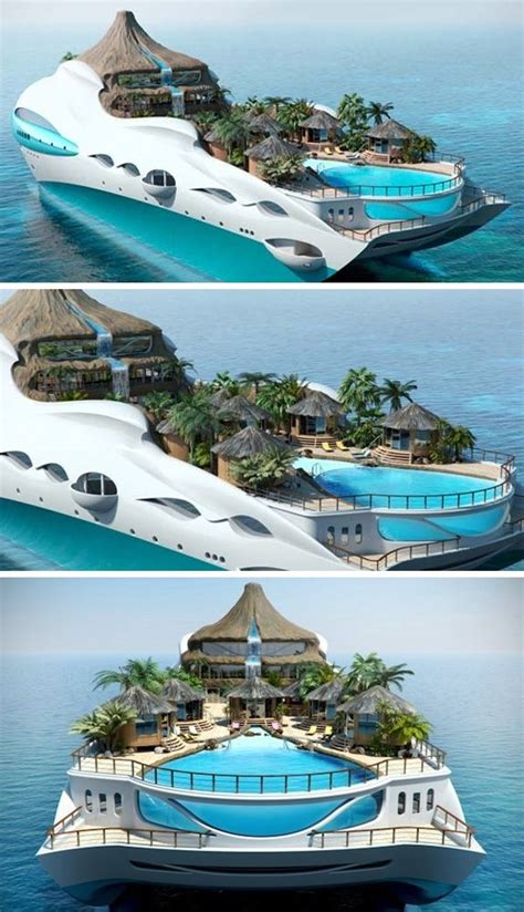 Life The Sea Luxury Tropical Island Yacht Concept