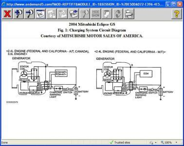 2002 Mitsubishi Eclipse Wire Diagram by 2004 Mitsubishi Eclipse Charging System Does The Ecu