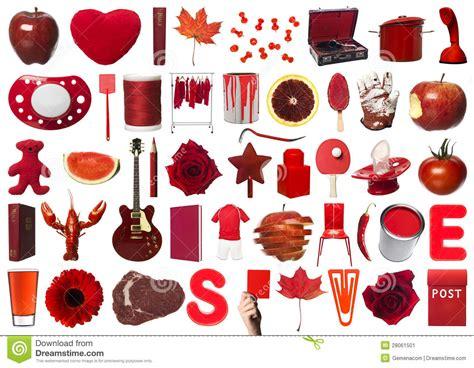 ustensile de cuisine collage des objets rouges image stock image du symbole