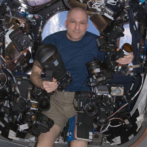 astronaut don pettit floating   huge camera