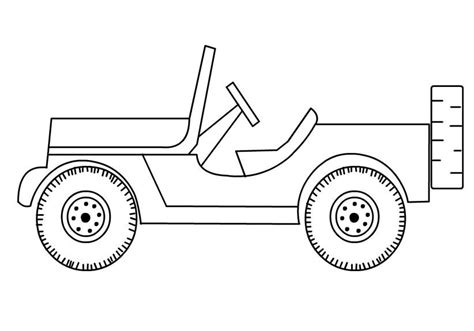safari jeep coloring page free jeep coloring pages to print