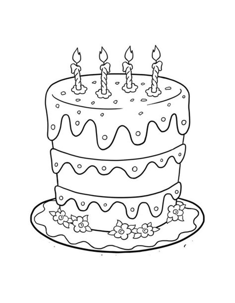 coloring pages top birthday cake coloring pages images