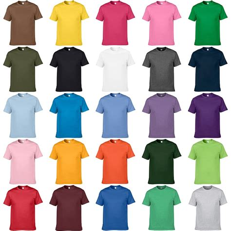 solid color t shirts 2017 fre shipping new slim green orange blue gray