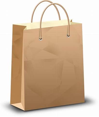 Bag Shopping Clipart Transparent Paper Background Vector