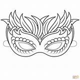 Mask Coloring Pages Venetian Printable Butterfly Masks Template Masquerade Mardi Gras Colouring Templates Drawing Adult Paper Styles sketch template