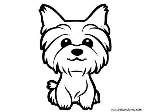 cute yorkie coloring pages  printable coloring pages