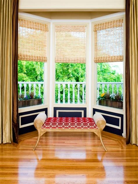 bay window sitting area  painted wainscoting hgtv