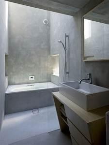 maison blockhaus par suppose design office With porte d entrée pvc avec meuble salle de bain en béton ciré