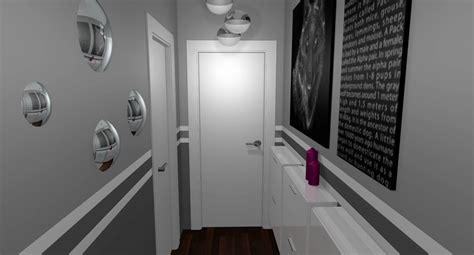 chambre gris perle et blanc dacoration entree 2017 avec déco couloir gris images