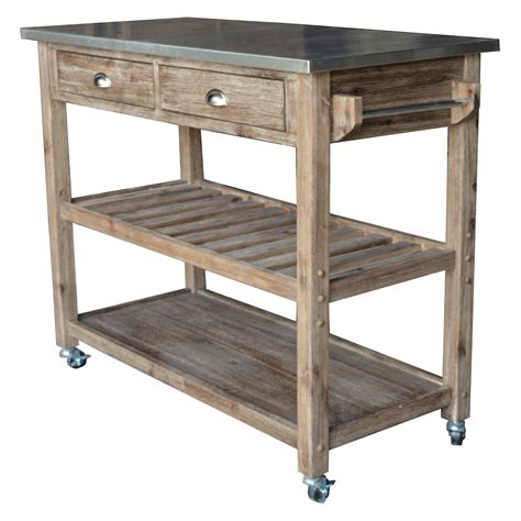 kitchen island and cart sonoma wire brush rustic finish kitchen cart kitchen