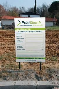 Affichage Permis De Construire : panneau de chantier impression panneau publicitaire ~ Dallasstarsshop.com Idées de Décoration
