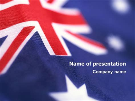 australian flag powerpoint template backgrounds