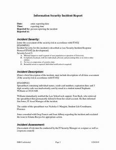 sample incident report format lte tester cover letter With security incident report sample letter