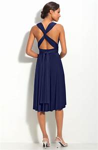 Gorgeous Navy Blue Knee Length Bridesmaid Dresses to ...
