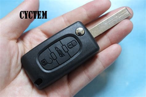 Cyctem 3 Buttons Car Remote Key Shell Fob Case Blank Cover