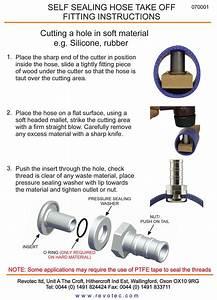 Revotec 25mm Self Sealing Hose Fitting Take Off Push