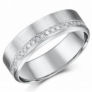 6mm 9ct White Gold Diamond Wedding Ring Eternity Rings