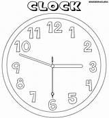 Clock Coloring sketch template