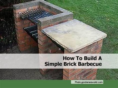 how to build a simple brick barbecue