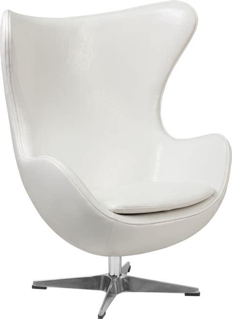white leather egg chair with tilt lock mechanism zb 10 gg
