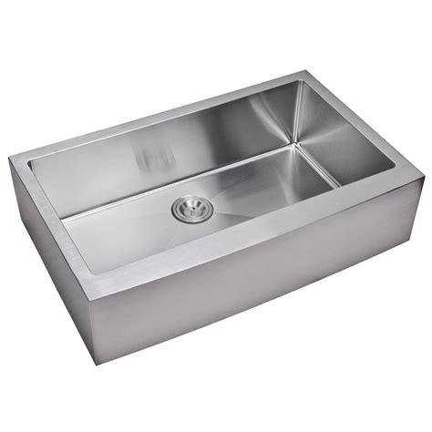 apron front single bowl kitchen sink water creation farmhouse apron front small radius