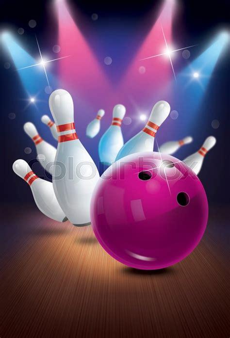 home design plans bowling poster backgrounds flyer or label design stock