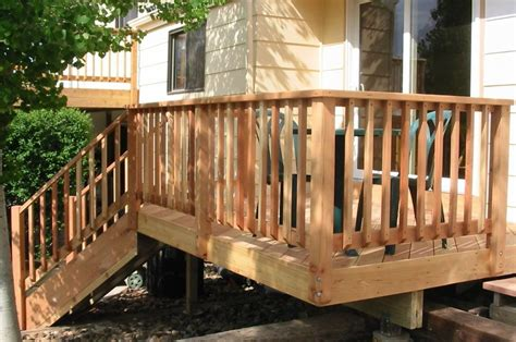 Porch Railing Wood - wood deck railing design deck deck railing design