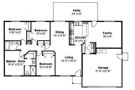 ranch floor plans with basement 1950 ranch house plans style for homes home designs lrg