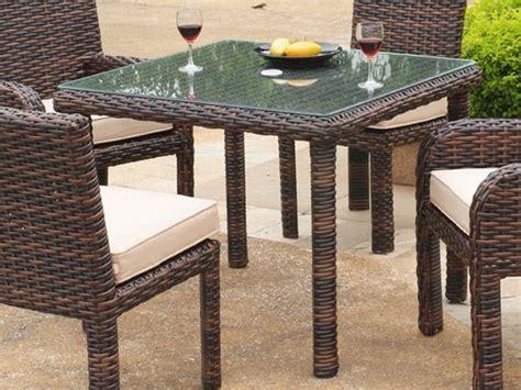 South Sea Rattan Saint Tropez Wicker Square Dining Table