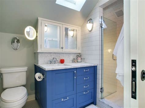 Blue Cabinets  Contemporary  Bathroom  Jas Design Build
