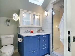 Restoration hardware bathroom vanity transitional for Blue bathroom cabinets