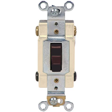 Shop Cooper Wiring Devices Amp Brown Way Light Switch